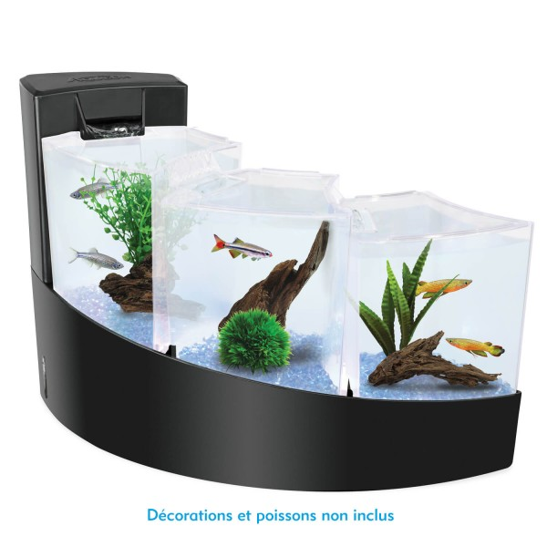aquarium aqua falls kit complet noir aqua falls. Black Bedroom Furniture Sets. Home Design Ideas
